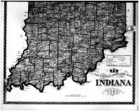 Indiana State Map - Below, Franklin County 1882 Microfilm